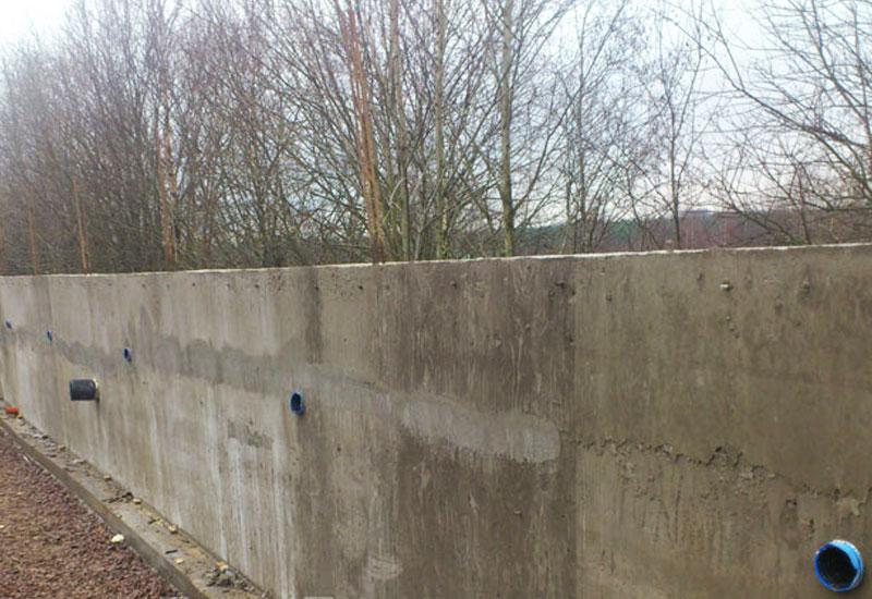 Установка бетонных подпорных стен методика