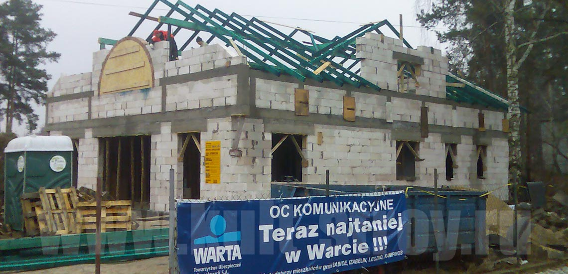 процесс строительства стен