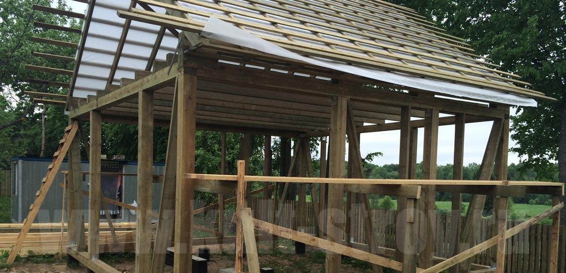 процесс строительства каркасного дома