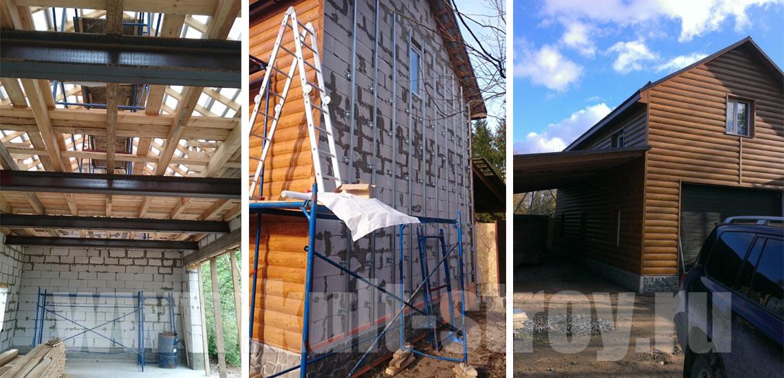 этапы строительства гараж с жилым этажом