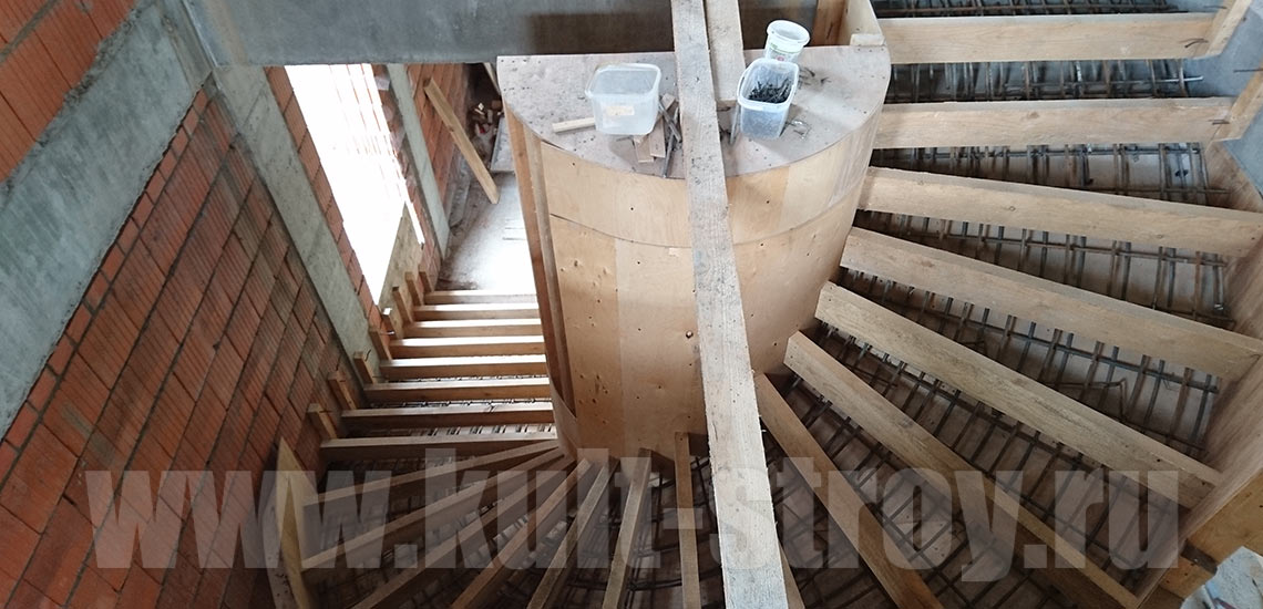 устройство бетонных лестниц