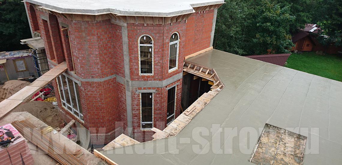 заливка бетоном террасы