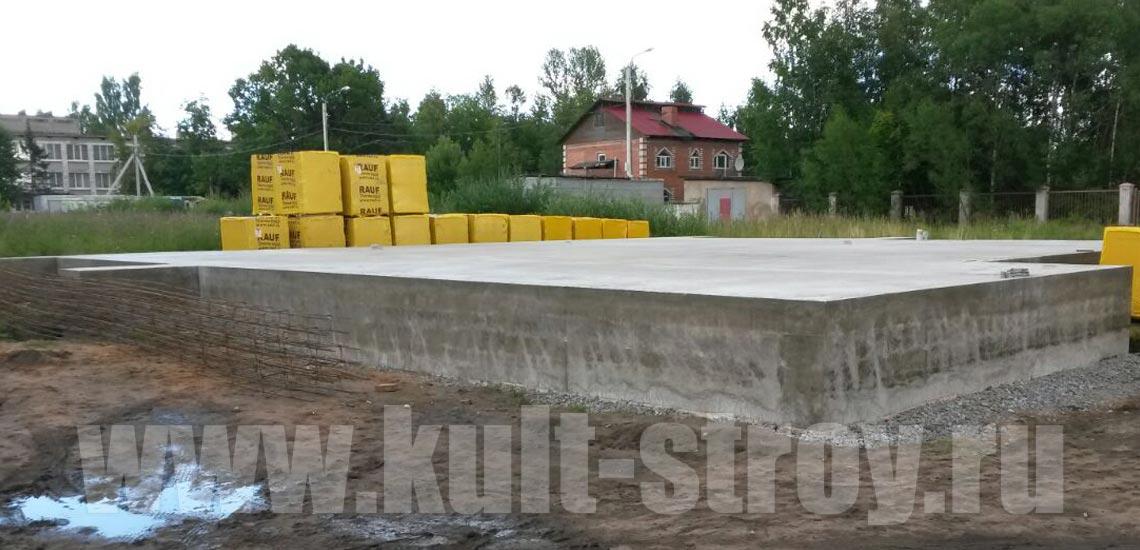 готовый фундамент без опалубки