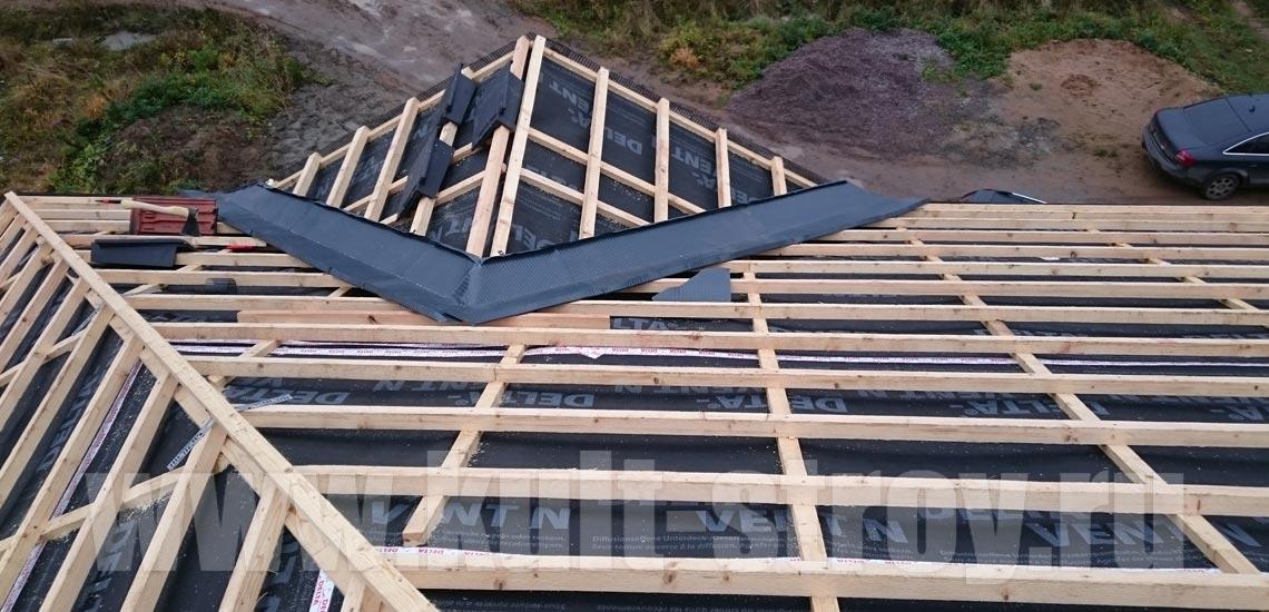 процесс устройства конструкции крыши