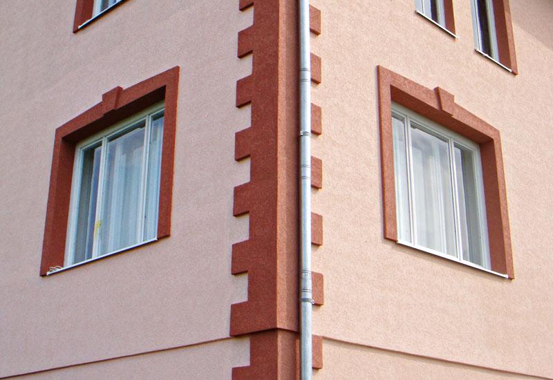 Sádrové fasády v Petrohrade