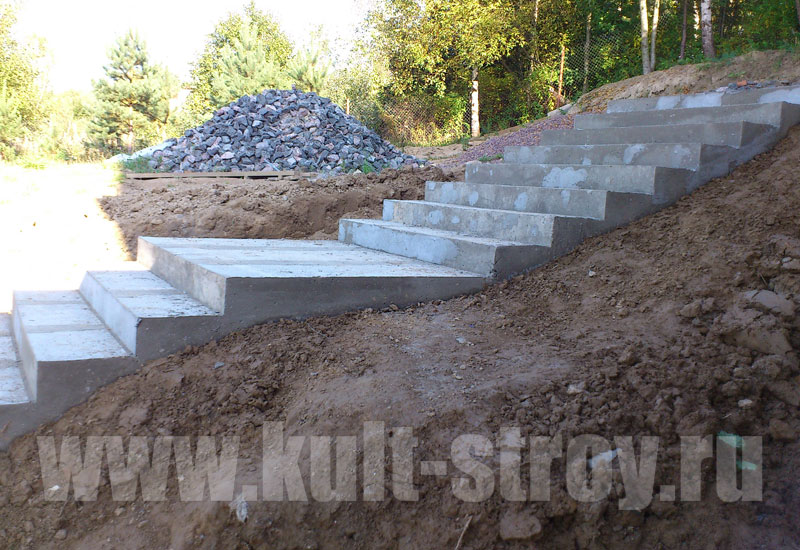 бетонная лестница во дворе