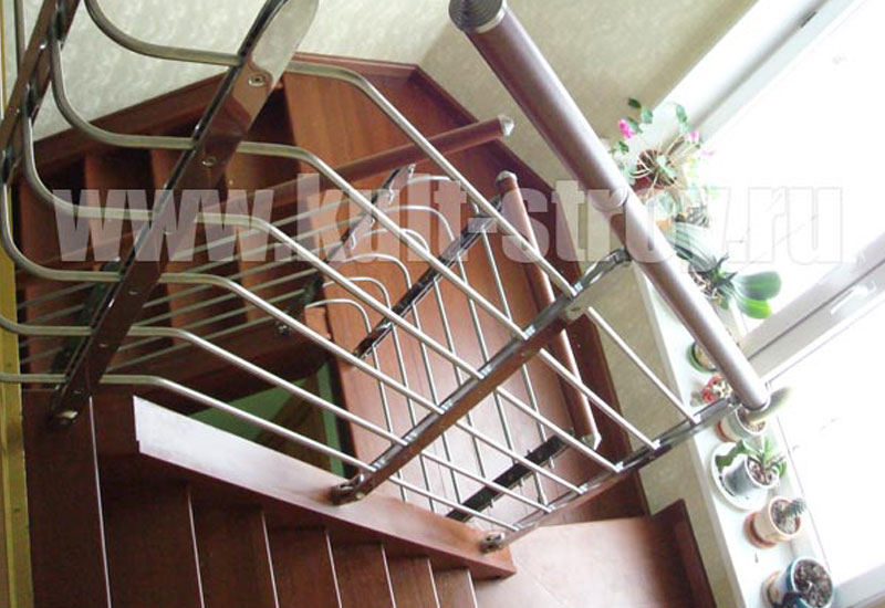 деревянная лестница модель 10