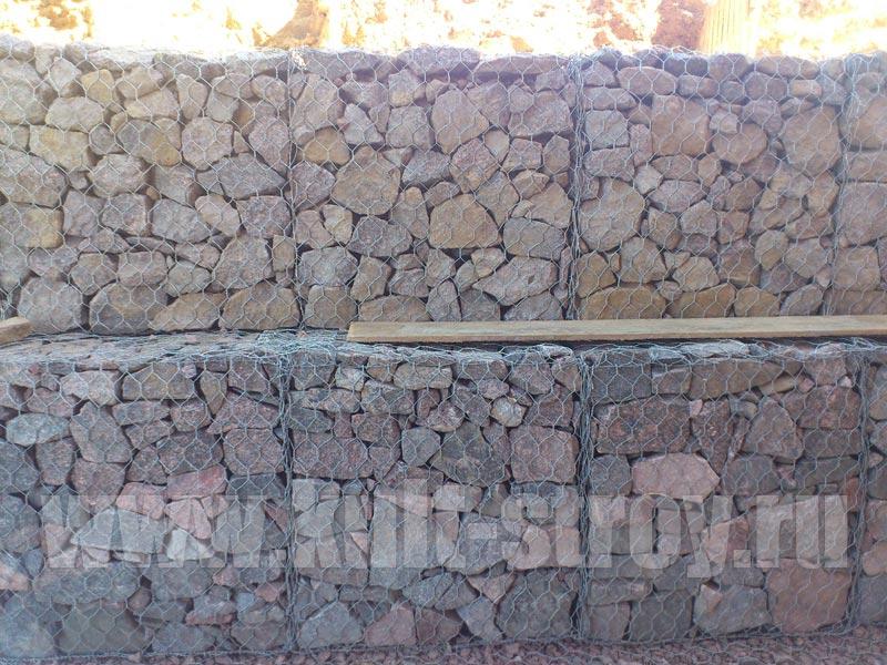 габионная подпорная стена