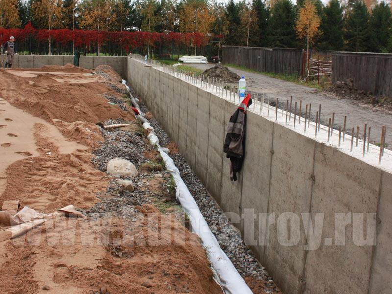 подпорная стена бетонная