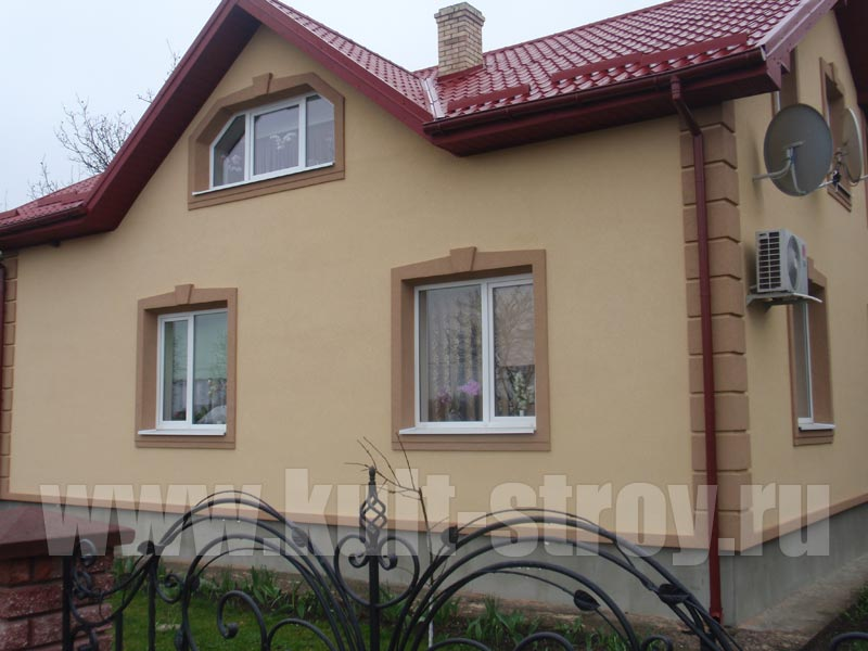 бежевый цвет фасада дома