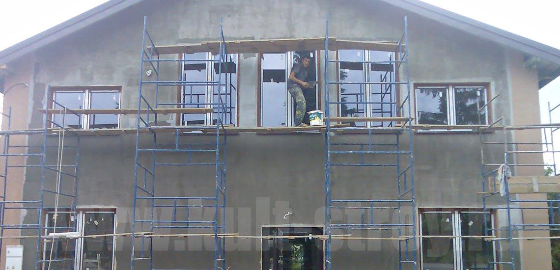 работы над фасадом