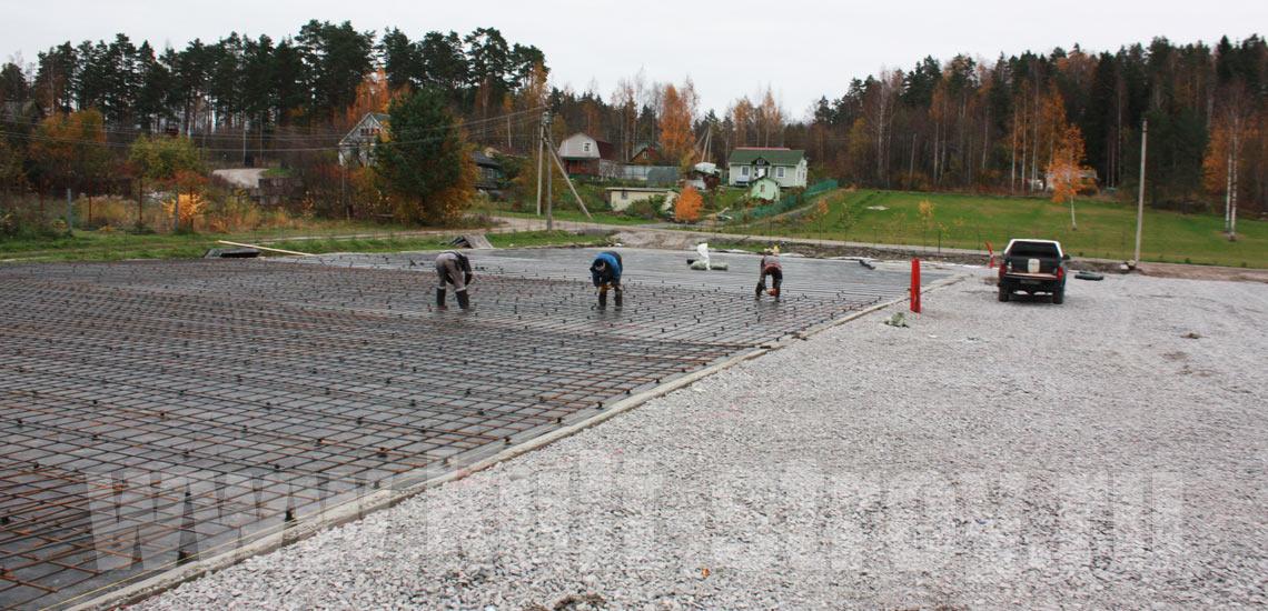 заливка бетона фундамента