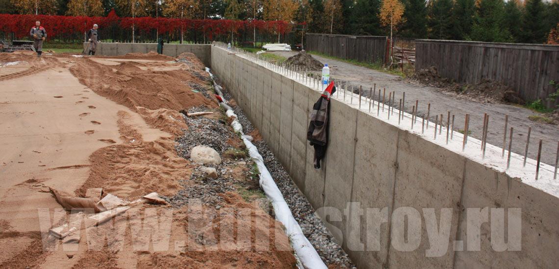 готовность подпорной стены