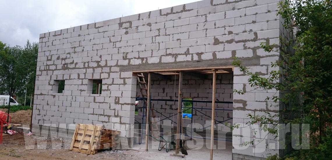 возведение стен гаража