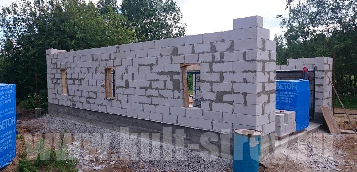 работы по возведению стен