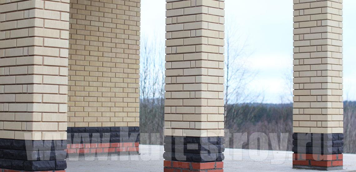 колонны облицованные кирпичом