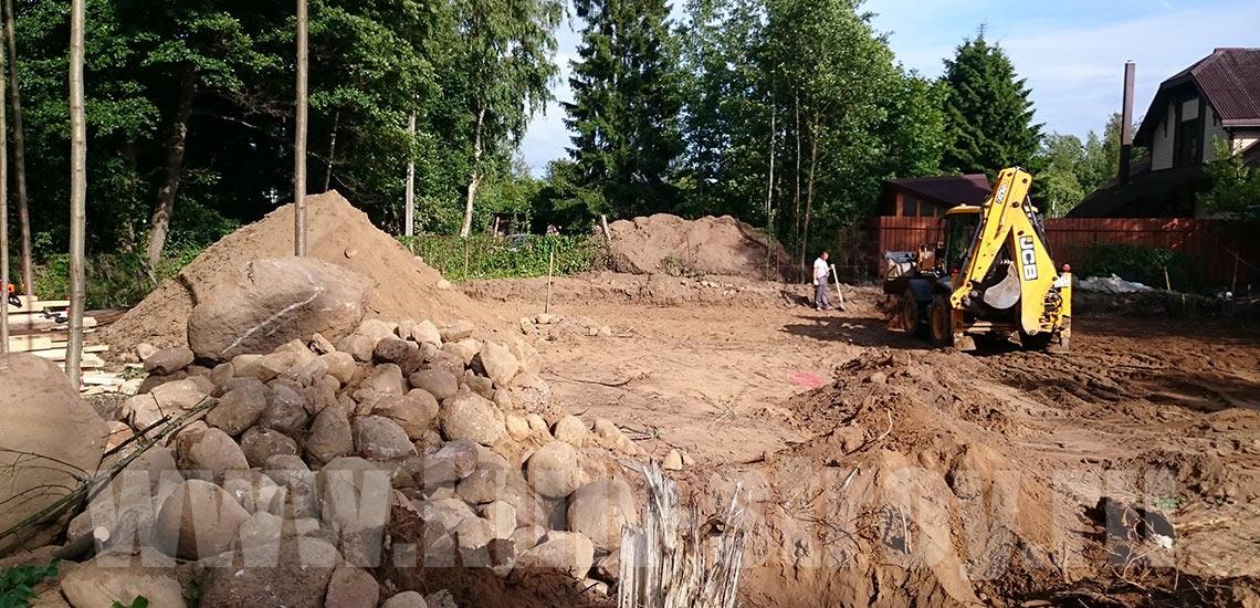 подготовка площадки под фундамент