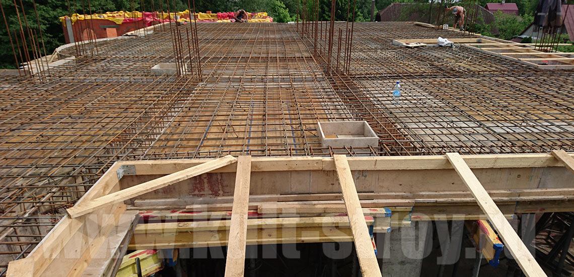 подготовка перекрытия третьего этажа