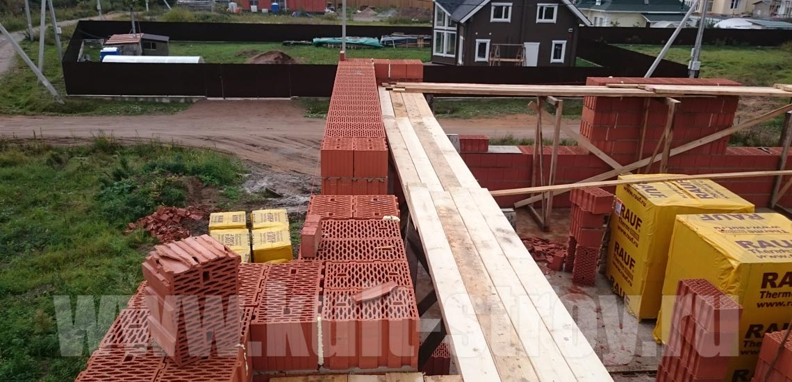 возведение стен керамическими блоками