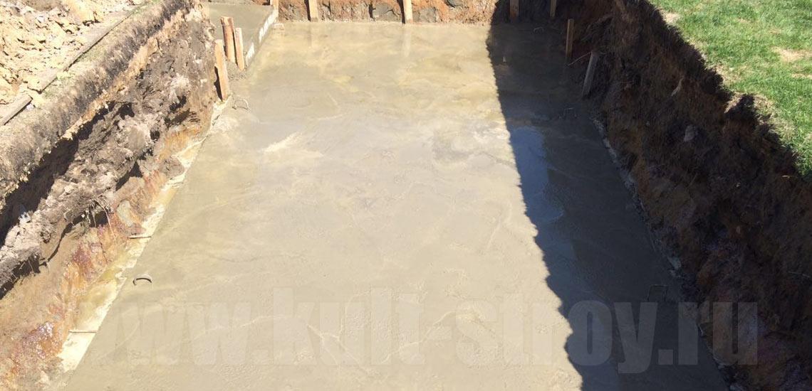 фундамент под бассейн