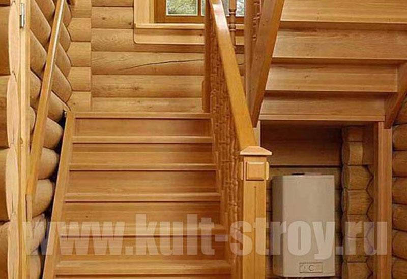 деревянная лестница модель 1