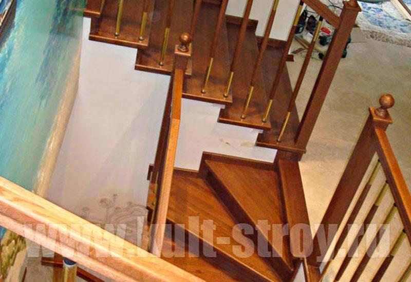 деревянная лестница модель 8