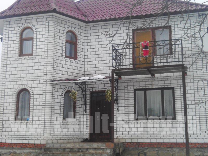 облицовка кирпичем дома в Лен. области