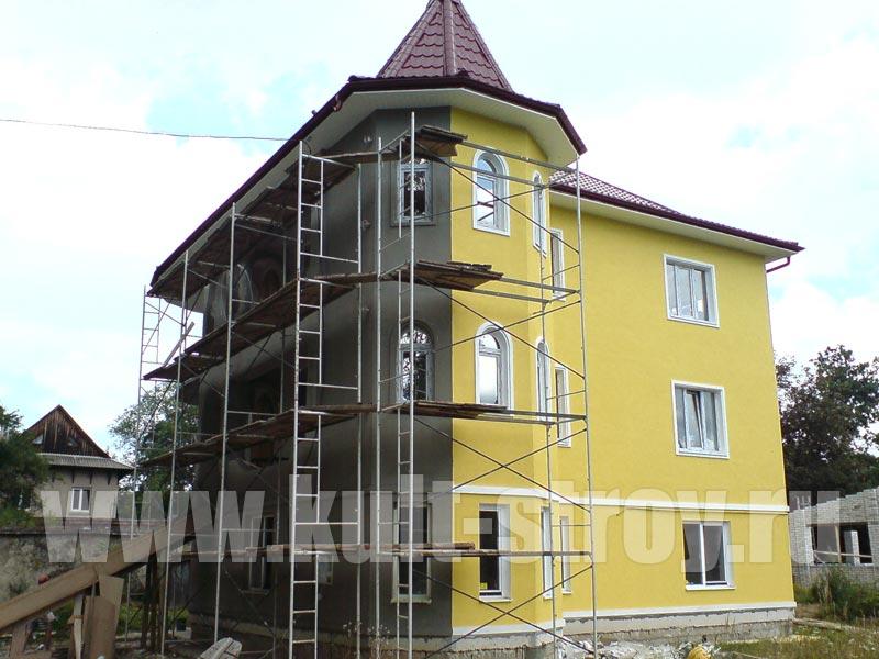 желтый цвет фасада дома