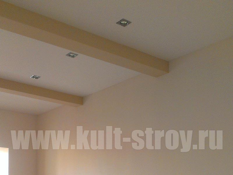 потолок с поперечными балками